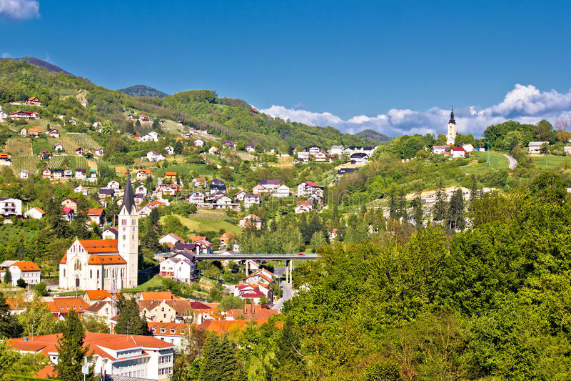 Beautiful green landscape of Krapina royalty free stock images
