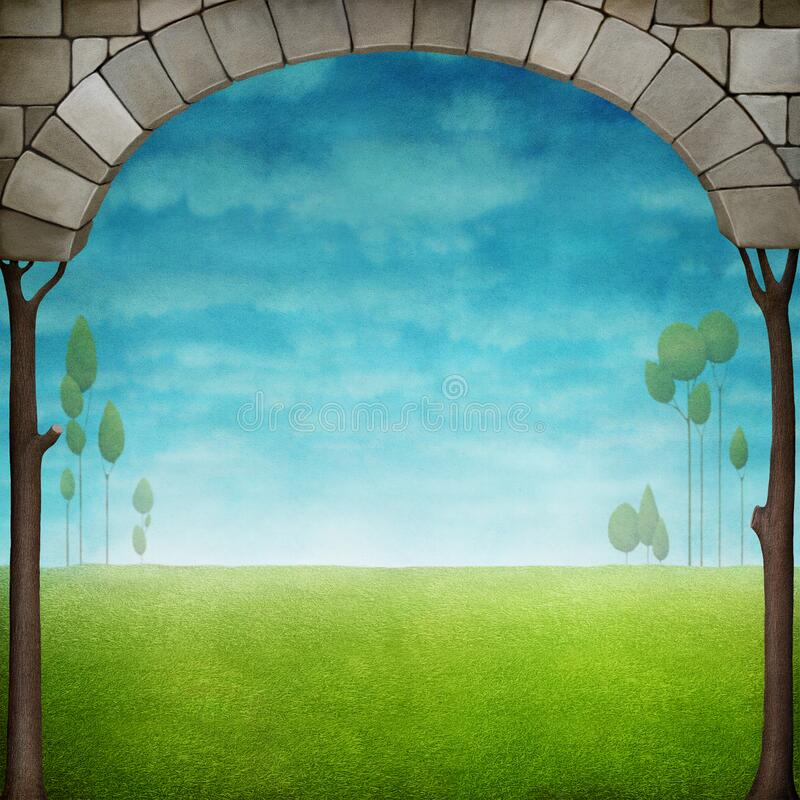 Background with arch royalty free stock images