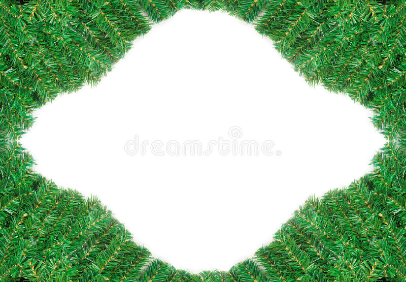 Download Beautiful Green Pine Branch Frame For Christmas Stock Image - Image: 17163719