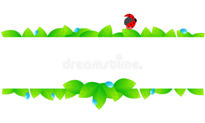 Download Beautiful Green Spring Leaves Banner Stock Vector - Image: 25659810