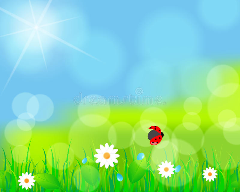Download Beautiful Green Spring Meadow Stock Vector - Image: 25659816
