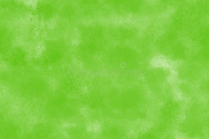 Beautiful green watercolor paint on white background. Beautiful light and dark green watercolor paint on white background, artistic illustration background stock illustration