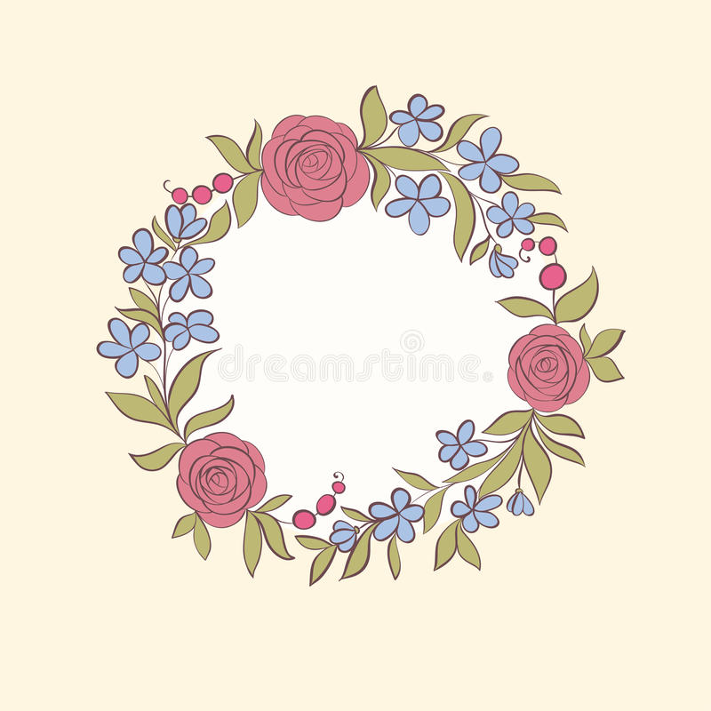 Beautiful greeting card of floral wreath hand drawn background for download beautiful greeting card of floral wreath hand drawn background for greeting cards and bookmarktalkfo Images