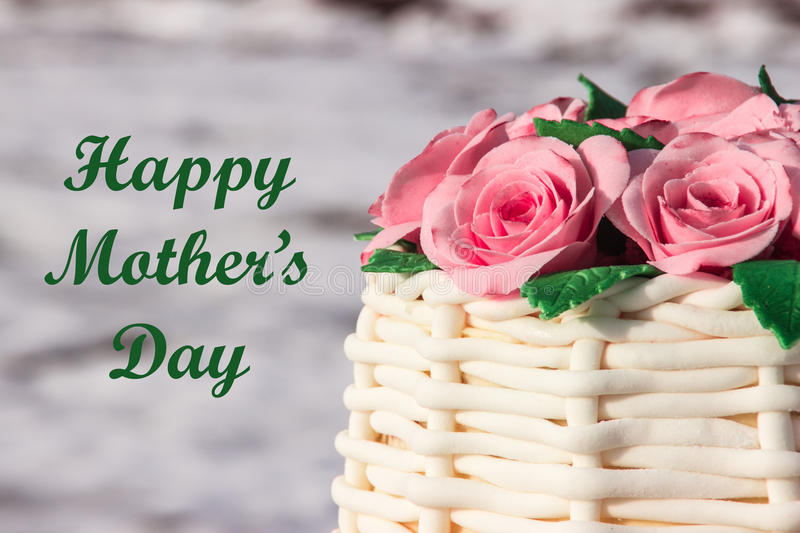 Beautiful greeting card mother's day stock photo