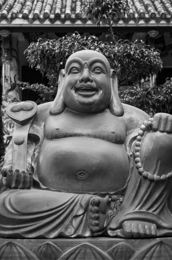 Laughing Buddha Statue in Da Nang Temple, Vietnam stock photos