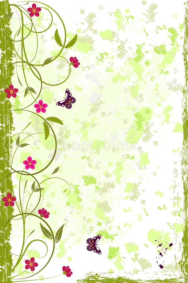Free Beautiful Grunge Floral Background Royalty Free Stock Photo - 25369665