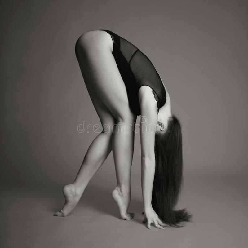 Beautiful gymnast royalty free stock photography