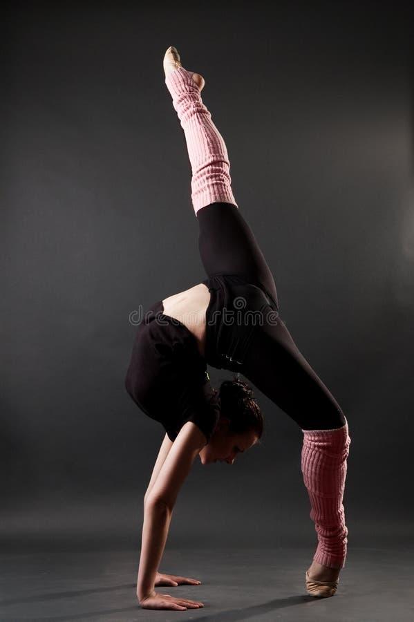Beautiful gymnastic pose stock photos