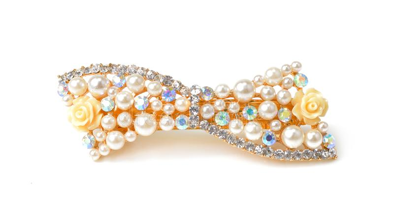 Beautiful hairpin jewelry isolate on white backgound royalty free stock photos