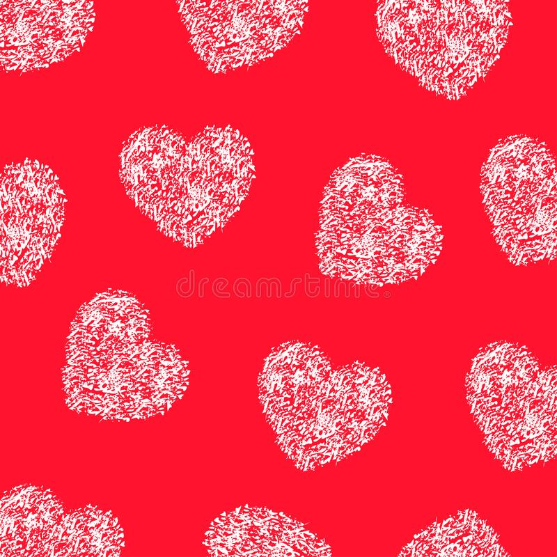 Beautiful hand drawn seamless red heart background – vector. Beautiful hand drawn seamless red heart background – stock vector vector illustration