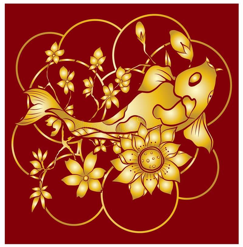 Free Beautiful Hand Drawn Swimming Koi Fish. Stock Image - 157582081
