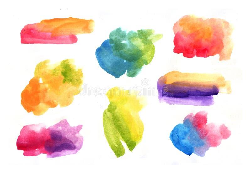 Beautiful hand drawn watercolor seamless pattern royalty free illustration