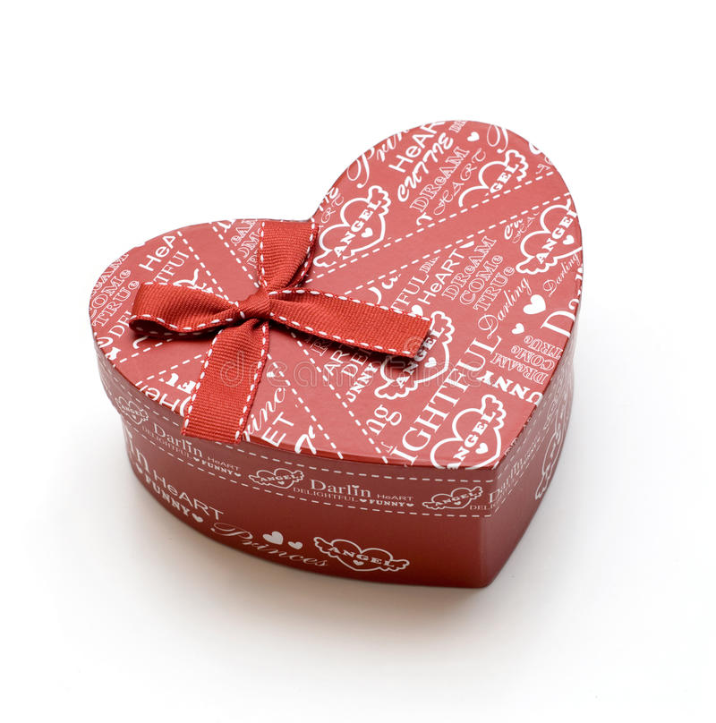 Beautiful hand-made red heart gift box
