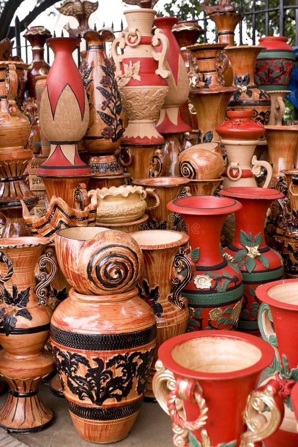 Free Beautiful Handmade & Hand-painted Clay Pots Stock Image - 17357781