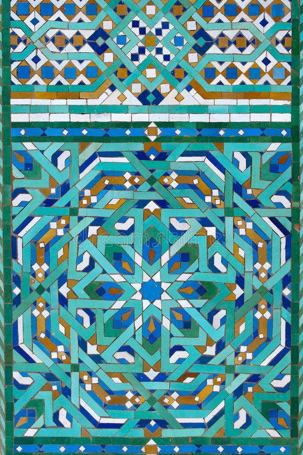 Moroccan traditional handcrafted mosaic, stock photo