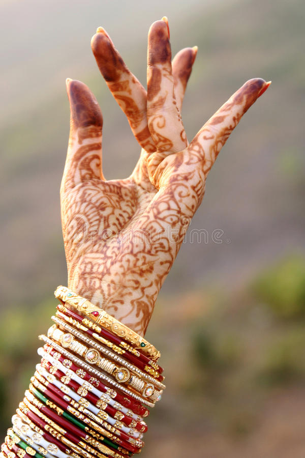 Beautiful Hands Of An India Bride Stock Image - Image: 34726645