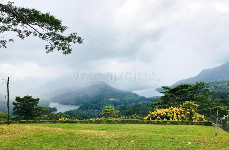 Beautiful Mountain View Of Srilanka. This is a beautiful hanuman temple mountain view located in srilanka royalty free stock photography