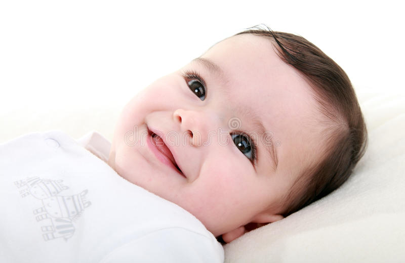 Beautiful happy baby stock image
