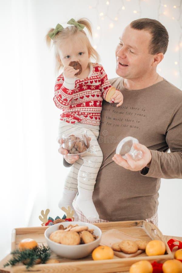 Beautiful happy  baby girl  near Christmas tree stock photos