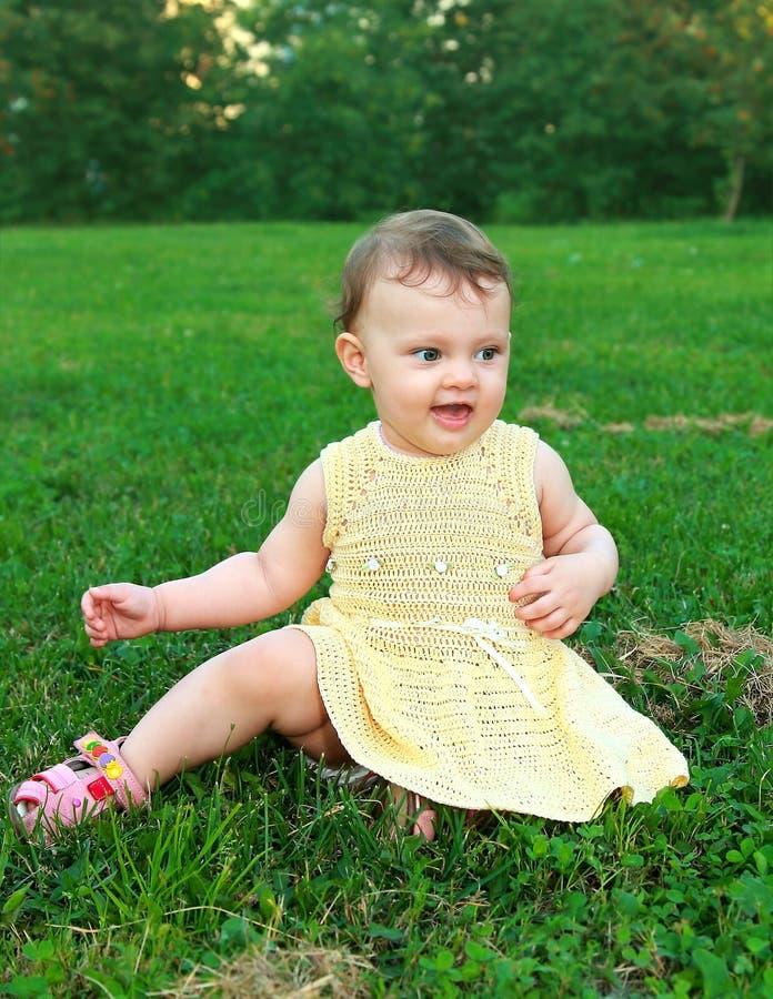 Download Beautiful Happy Baby Girl Sitting Stock Photo - Image: 25904492