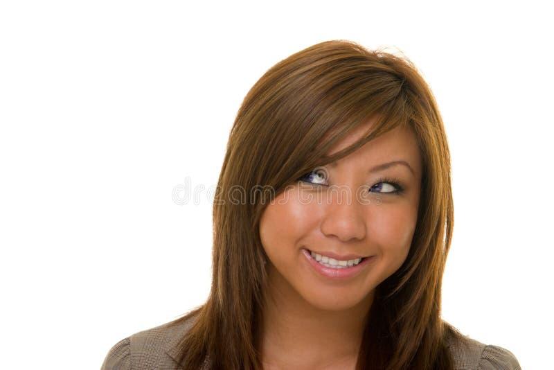 Beautiful Happy Business Woman stock photo