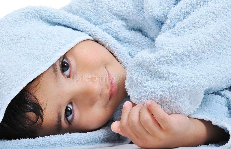 Download Beautiful Happy Childhood In Robe Isolated Stock Photo - Image: 10824634