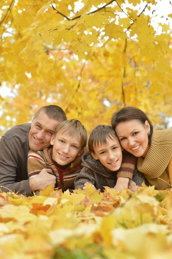 Beautiful happy family royalty free stock photography