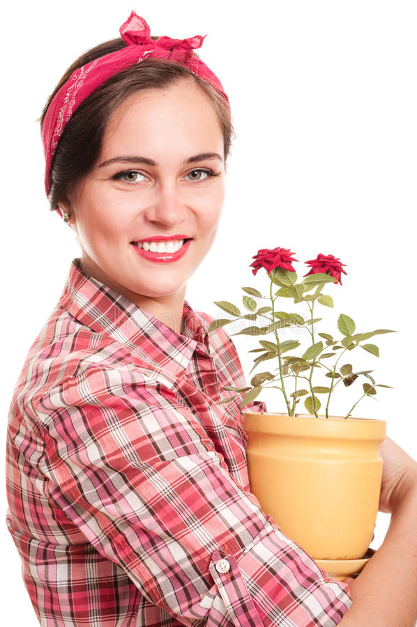 Download Beautiful happy housewife stock image. Image of smile - 19676789