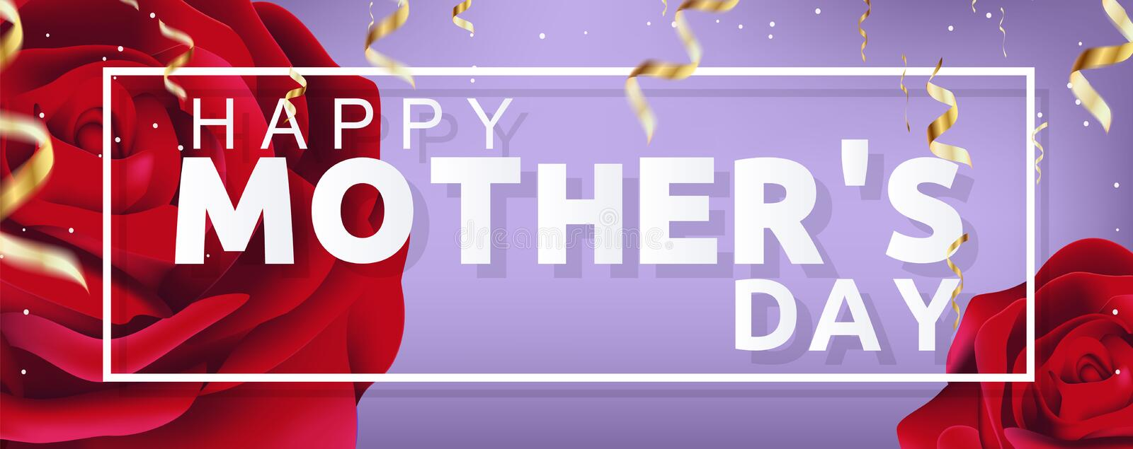 Beautiful Happy Mothers Day Vector Background Illustration. Beautiful Happy Mothers Day Sale Vector Banner Background Illustration for social media vector illustration