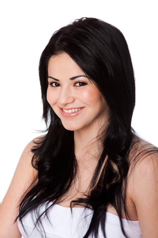 Beautiful happy smile stock photo