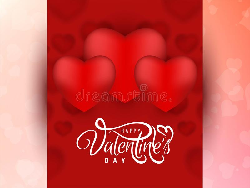 Beautiful Happy Valentine`s day background. Vector royalty free illustration