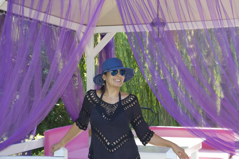 Beautiful woman portrait in Antalya,Turkey stock photography