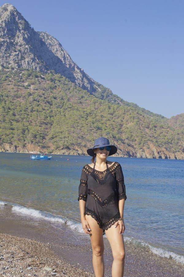 Beautiful woman portrait in Antalya,Turkey stock photos