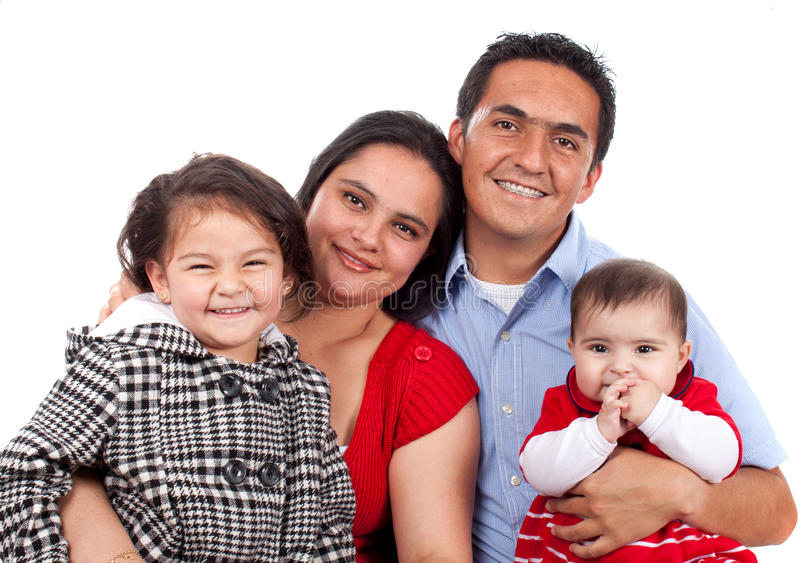 Beautiful Happy young family stock photography