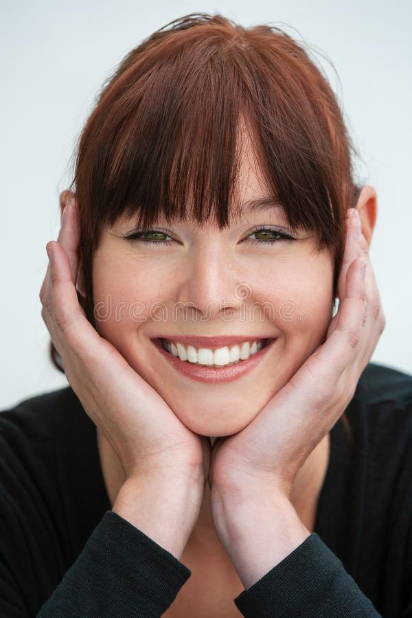 Beautiful Young Woman Smiling With Perfect Teeth stock photos