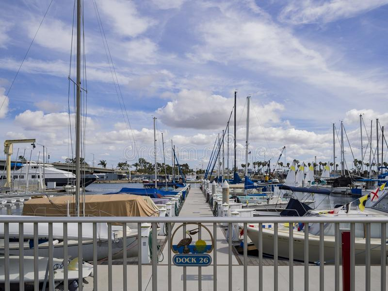 Beautiful harbor in Long Beach stock photo