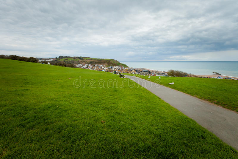Beautiful Hastings cityscape in England royalty free stock images