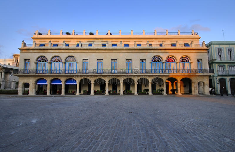 Beautiful havana building, cuba stock image