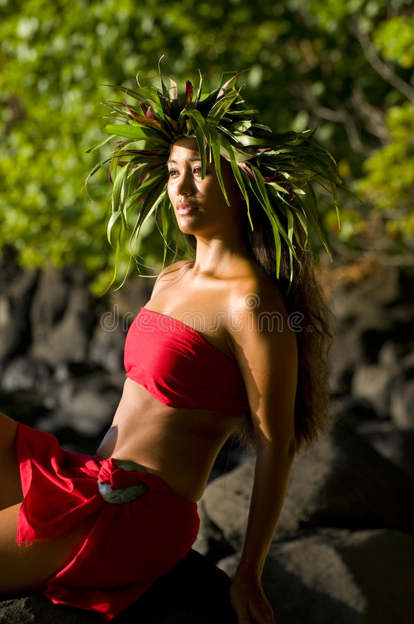 Beautiful Hawaiian woman royalty free stock images
