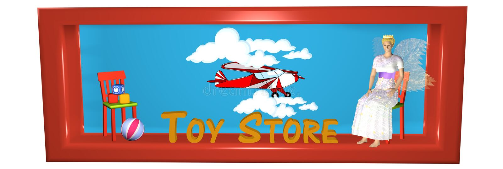 Beautiful header for an Internet shop with toys royalty free illustration