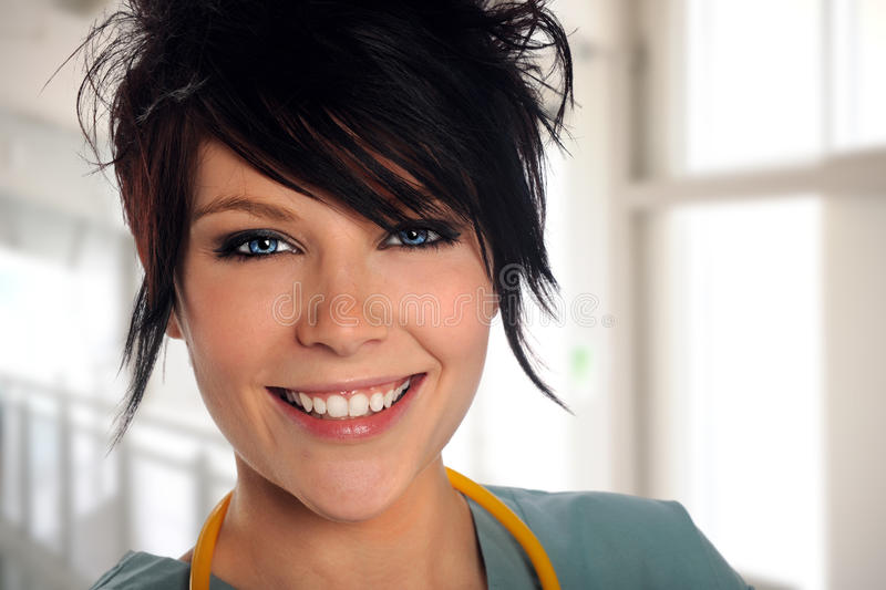 Beautiful Health Care Worker stock photo