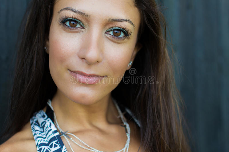 Beautiful and healthy looking arabic woman stock image