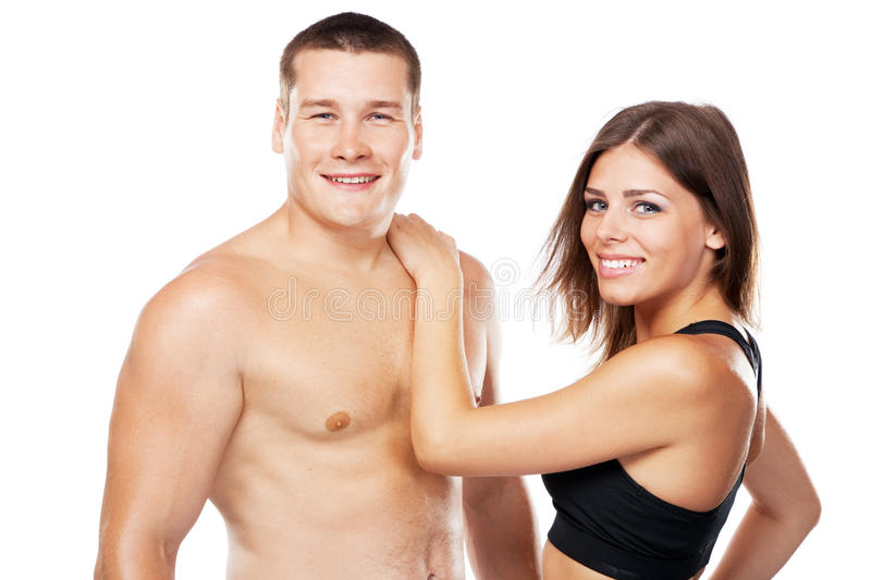 Beautiful Healthy-looking Couple In Sports Outfit Stock Photo