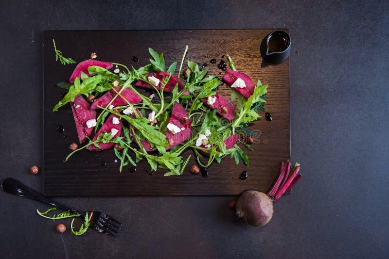 Beautiful Healthy Paleo Green Salad with Radish royalty free stock photos
