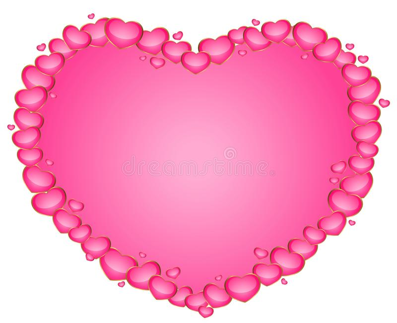 Download Beautiful heart stock vector. Image of merry, romance - 12482609