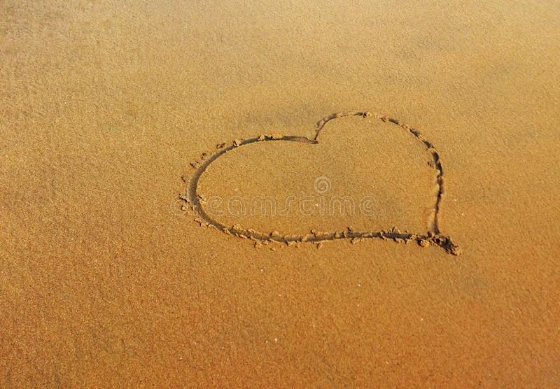 Heart as Art in beach stock images