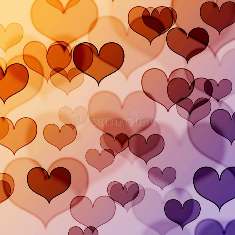 Free Beautiful Heart Shape Background Royalty Free Stock Photography - 12692977