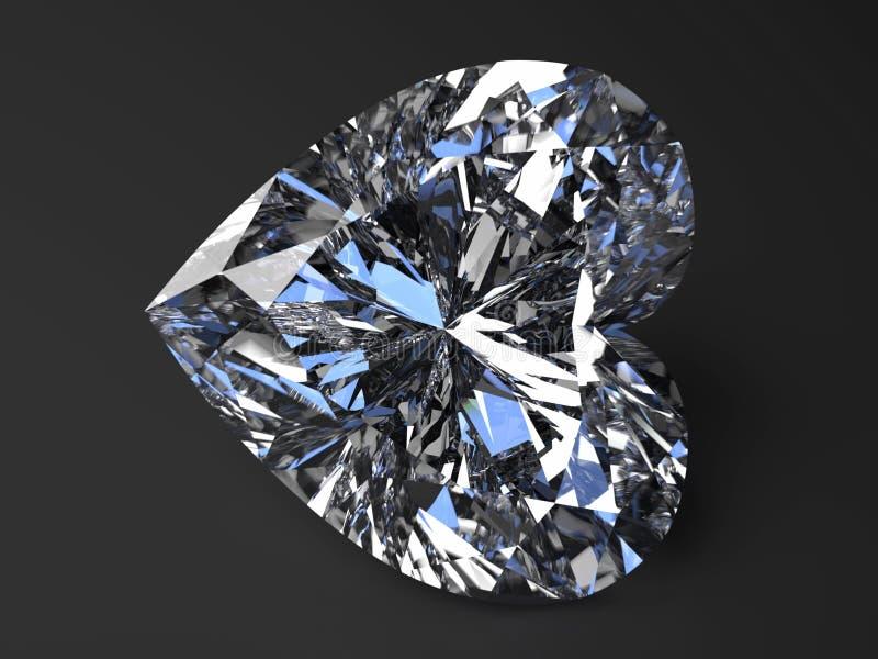 Beautiful heart-shaped diamond stock photography
