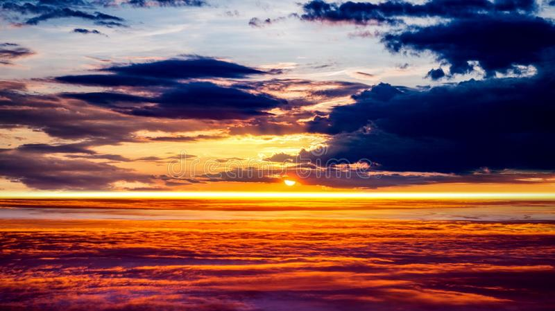 . Beautiful sky . Sunrise . Light from sky. Beautiful heavenly landscape with the sun in the clouds royalty free stock images