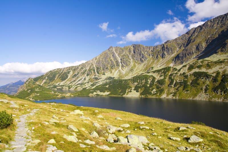 Beautiful high mountains view, tatry in poland. Beautiful lake and mountain view, tatry poland. Dolina Pięciu Stawów Polskich stock images